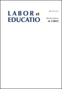 Labor et Educatio, 2013/1, 1 (2013)