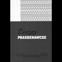 Zeszyty Prasoznawcze, 2009/1, Tom 52 (2009)