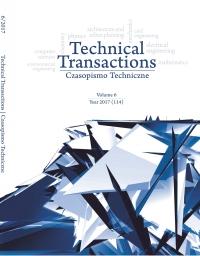 Czasopismo Techniczne, 2017/6, Volume 6