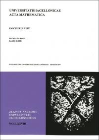 Universitatis Iagellonicae Acta Mathematica, 2011/1, Tom 49