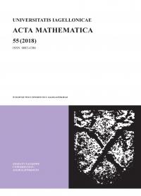 Universitatis Iagellonicae Acta Mathematica, 2018/12, Tom 55