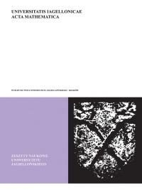 Universitatis Iagellonicae Acta Mathematica, 2015/1, Tom 52