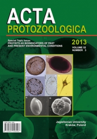 "Acta Protozoologica, 2013/7, Volume 52, Issue 3, Special topic issue:""Protists as Bioindicators of Past and Present Environmental Conditions"""