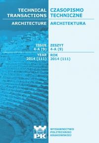 Czasopismo Techniczne, 2014/5, Architektura Zeszyt 4 A (9) 2014