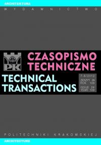 Czasopismo Techniczne, 2012/12, Architektura Zeszyt 7-A (29) 2012