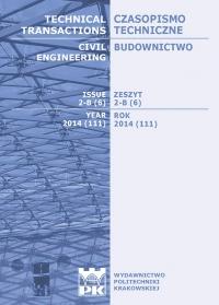 Czasopismo Techniczne, 2014/3, Budownictwo Zeszyt 2-B (6) 2014