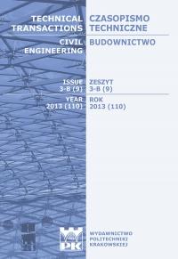 Czasopismo Techniczne, 2013/9, Budownictwo Zeszyt 3-B (9) 2013