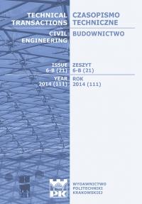 Czasopismo Techniczne, 2014/11, Budownictwo Zeszyt 6-B (21) 2014