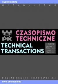 Czasopismo Techniczne, 2012/9, Budownictwo Zeszyt 4-B (21) 2012