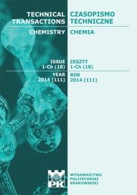 Czasopismo Techniczne, 2014/9, Chemia Zeszyt 1-Ch (18) 2014