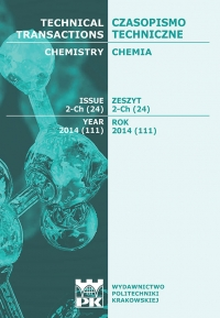 Czasopismo Techniczne, 2014/12, Chemia Zeszyt 2-Ch (24) 2014