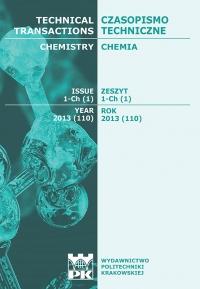 Czasopismo Techniczne, 2013/1, Chemia Zeszyt 1-Ch (1) 2013
