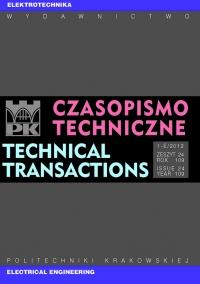 Czasopismo Techniczne, 2012/11, Elektrotechnika Zeszyt 1-E (24) 2012