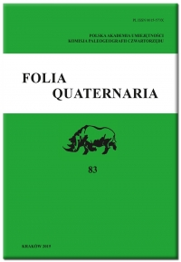 Folia Quaternaria, 2018/12, Vol. 86 (2018)