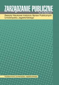 Zarządzanie Publiczne, 2012/9, Numer 2 (18)