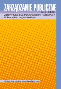 Zarządzanie Publiczne, 2011/12, Numer 4 (16)