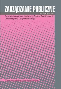 Zarządzanie Publiczne, 2015/7, Numer 2 (30)