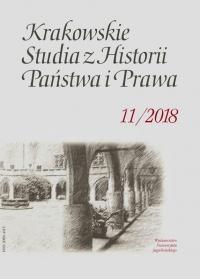 Krakowskie Studia z Historii  Państwa i Prawa, 2018/10, Zeszyt 3