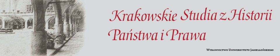 Krakowskie Studia z Historii  Państwa i Prawa, 2016/12, The Legal Status of Poles under German Occupation (1939–1945). Some Remarks on the Need for Research