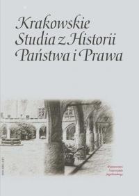 Krakowskie Studia z Historii  Państwa i Prawa, 2016/12, Zeszyt specjalny, wersja anglojęzyczna 2017