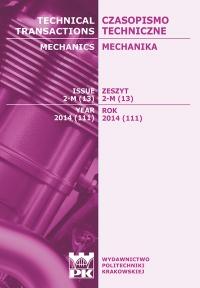 Czasopismo Techniczne, 2014/7, Mechanika Zeszyt 2-M (13) 2014