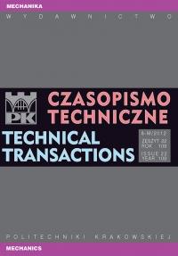 Czasopismo Techniczne, 2012/10, Mechanika Zeszyt 8-M (22) 2012