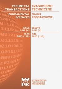 Czasopismo Techniczne, 2013/5, Nauki Podstawowe Zeszyt 1 NP (4) 2013