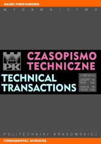 Czasopismo Techniczne, 2012/6, Nauki Podstawowe Zeszyt 1-NP (18) 2012