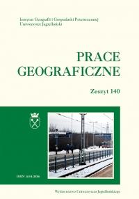 Prace Geograficzne, 2015/6, Zeszyt 140