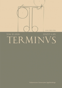 Terminus, 2018/12, Tom 20, zeszyt 4 (49)