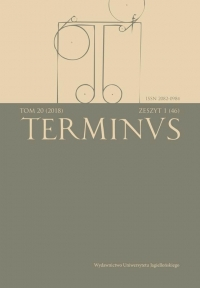 Terminus, 2018/8, Tom 20, zeszyt 1 (46)