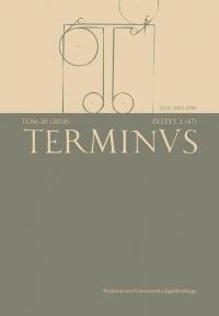 Terminus, 2018/9, Tom 20, zeszyt 2 (47)