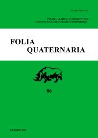 Folia Quaternaria, 2018/12, Vol. 86 (2018)