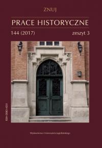 Prace Historyczne, 2017/9, Numer 144 (3)