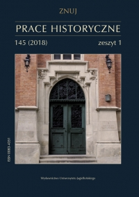 Prace Historyczne, 2018/2, Numer 145 (1)