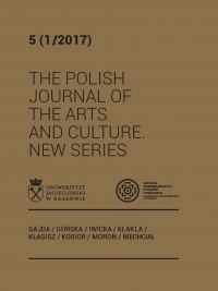 The Polish Journal of the Arts and Culture. New Series, 2017/6, 5 (1/2017)