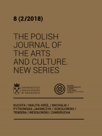 The Polish Journal of the Arts and Culture. New Series, 2018/12, 8 (2/2018)
