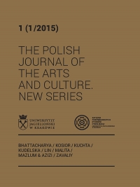 The Polish Journal of the Arts and Culture. New Series, 2018/6, 7 (1/2018)
