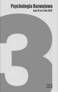 Psychologia Rozwojowa, 2010/11, Tom 15, Numer 3