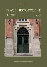 Prace Historyczne, 2013/3, Numer 140 (2)
