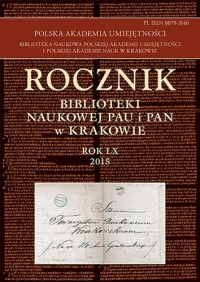Rocznik Biblioteki Naukowej PAU i PAN, 2015/1, 2015