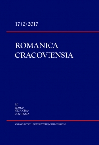Romanica Cracoviensia, 2017/10, Tom 17, Numer 2