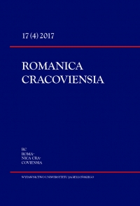 Romanica Cracoviensia, 2018/3, Tom 18, Numer 1