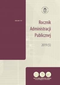 Rocznik Administracji Publicznej, 2019/10, 2019 (5)