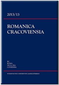Romanica Cracoviensia, 2016/9, Tom 16, Numer 1