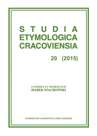 Studia Etymologica Cracoviensia, 2015/8, Volume 20, Issue 2
