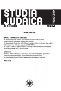 Studia Judaica, 2013/1, Nr 1 (31)