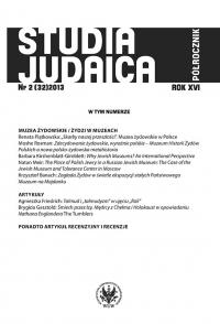Studia Judaica, 2013/8, Nr 2 (32)