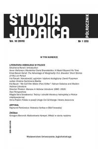 Studia Judaica, 2015/1, Nr 1 (35)