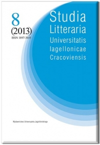 Studia Litteraria  Universitatis Iagellonicae Cracoviensis , 2017/11, Volume 12, Issue 3
